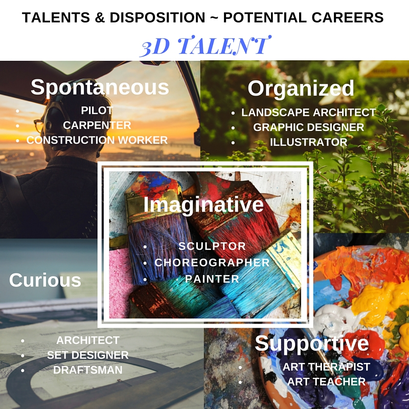 3D Talent - Disposition ~ Potential Careers