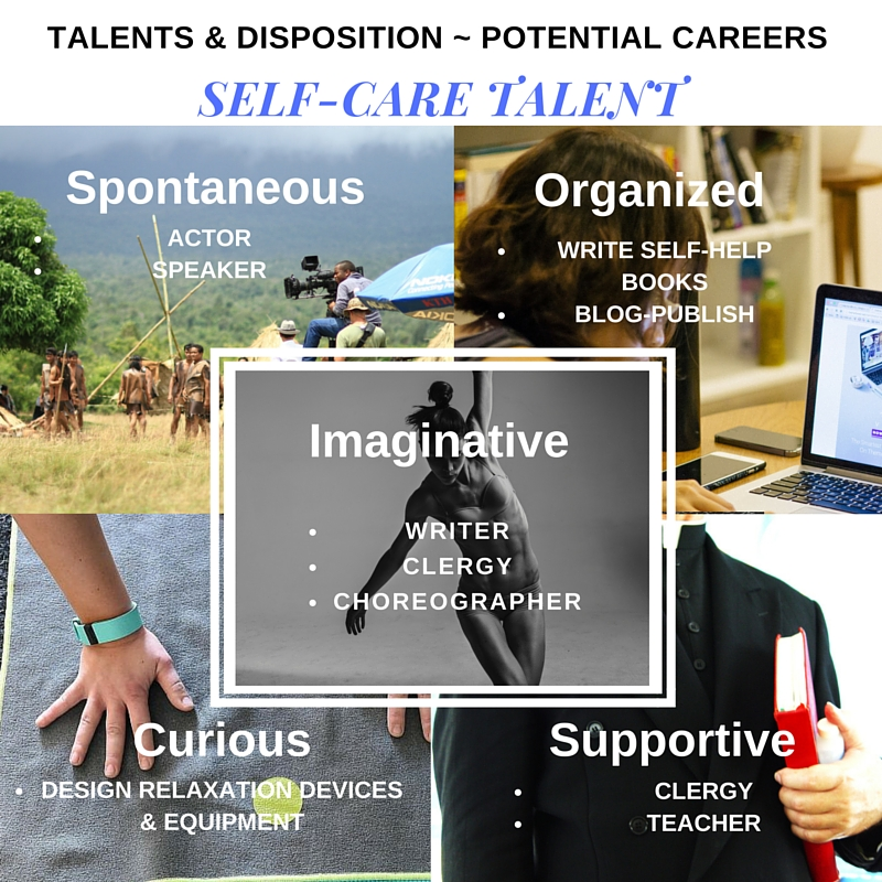 Self-Care Talent - Disposition ~ Potential Careers
