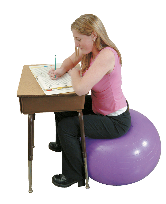 sitting on ball